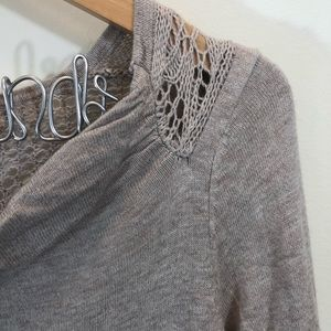 Anthropologie Sweaters - Anthro Sparrow Crochet Back Cowl Neck Sweater